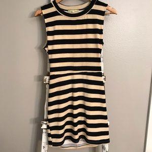Gianni Bini- striped fitted dress